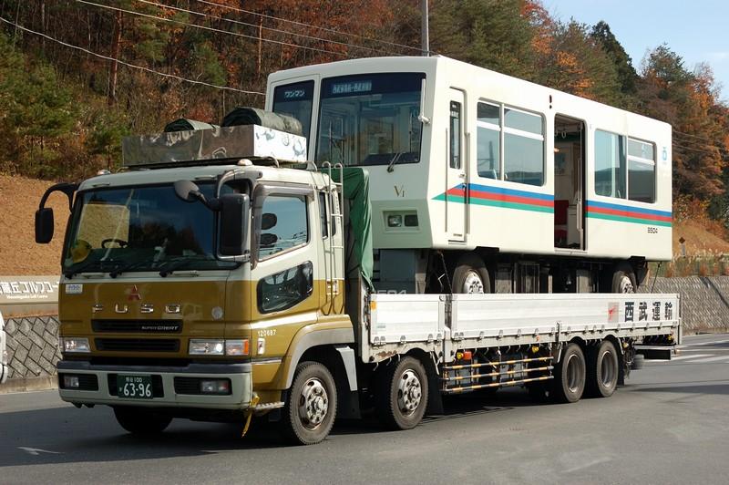 8500系レオライナーV1編成、武蔵丘入場陸送