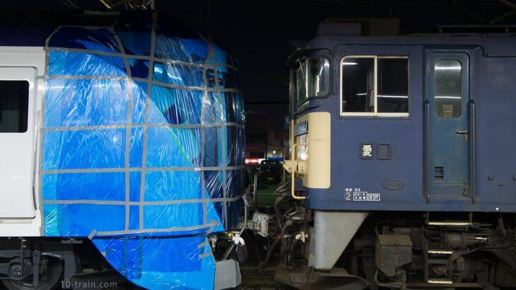 E353系第1編成が総合車両製作所を出場、甲種輸送で松本へ
