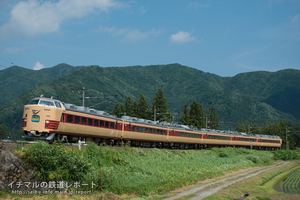 6月18日 特急「あいづ」 撮影地:川桁~猪苗代