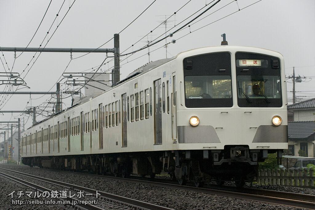 先日の試運転のとき同様、クハ1262のスカートが外された状態で運転されました。(撮影地:東飯能~高麗)