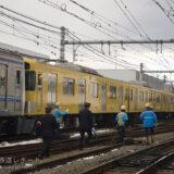 元加治―飯能間で発生した踏切事故当該車両(新2000系2091F)の救援列車を記録(6000系・9000系・4000系牽引)