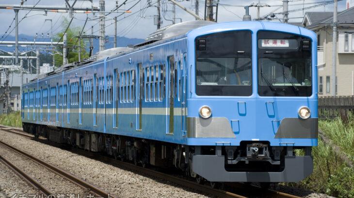 新101系1251F 近江鉄道100形カラーに塗装変更して武蔵丘を出場