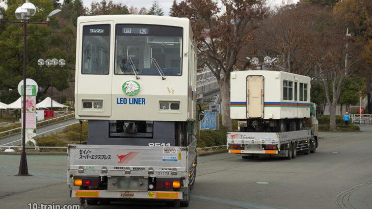 8500系レオライナー8511F(V2編成)陸送にて武蔵丘車両検修場へ入場