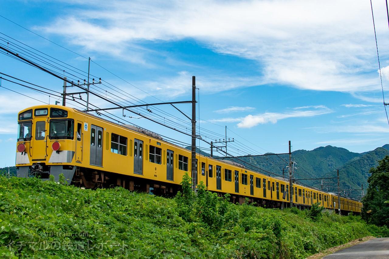 9000系9102Fが4両編成に組み替え 新101系263F牽引で横瀬から武蔵丘へ