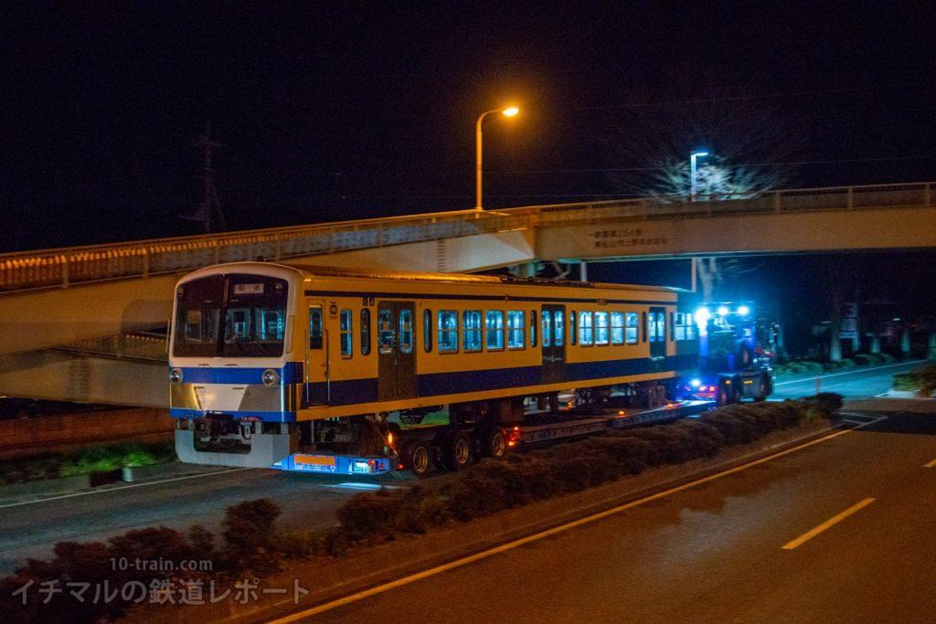東松山付近を走行する新101系1261F「クハ1262号車」陸送