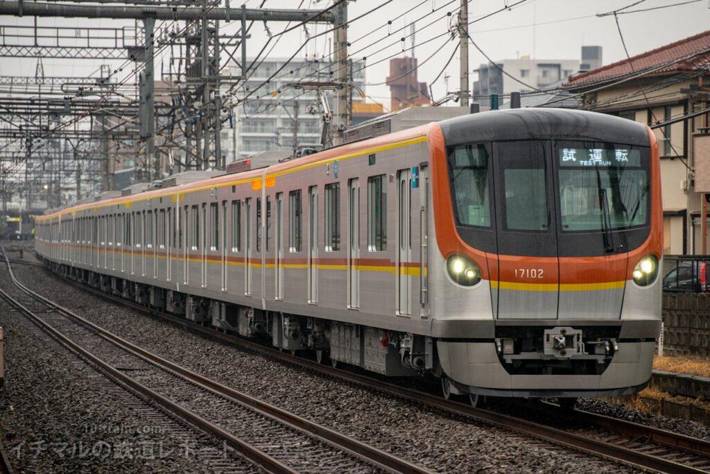 東京メトロ17000系17102Fを使用して連日行われている西武線内の乗務員訓練