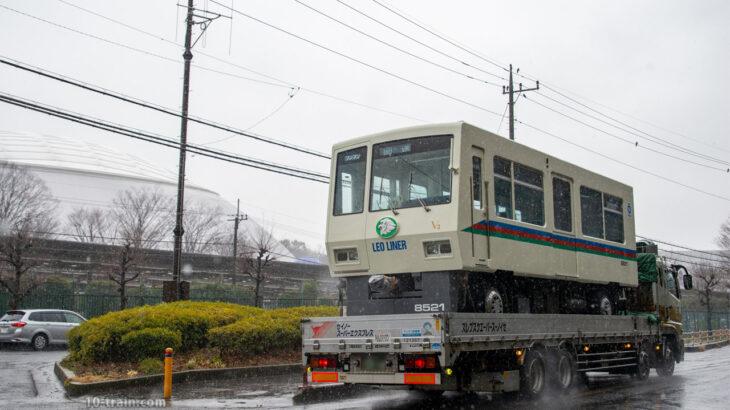 8500系レオライナー 8521F(V3編成)トラック輸送で山口車両基地(西武球場前)へ【出場陸送2021】