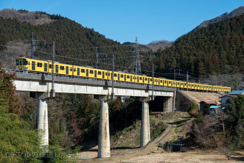 9000系最後の10両編成、横瀬までラストスパート(9000系9104F)